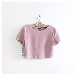 Wild Fable ∙ Pink Corduroy Cropped Top